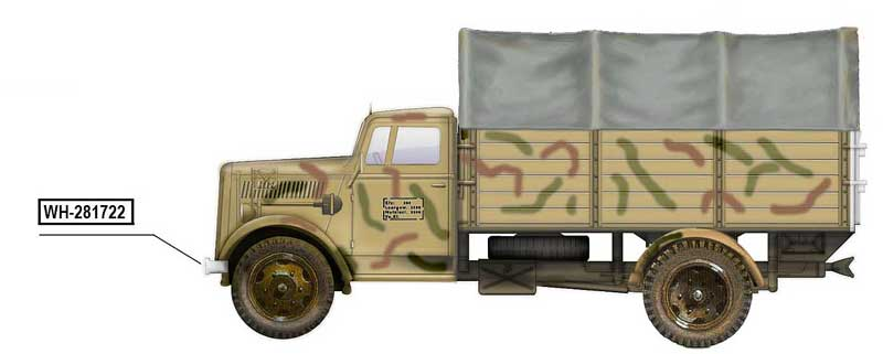 "Opel Blitz Cargo Truck, ""WH-281722,"" WWII (1:72)"