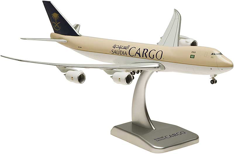 Saudi Cargo 747-8F Flexed Wings & Stand HZ-A14 (1:400)