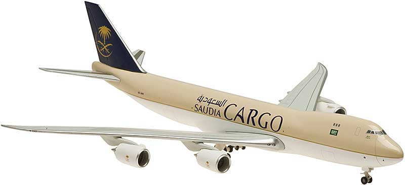 Saudi Cargo 747-8F Nonflex Wings, No Stand HZ-A14 (1:400)