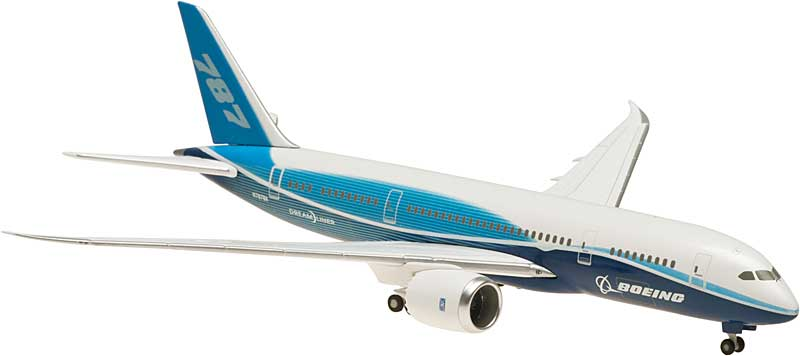 Boeing 787-8 Straight Wings, No Stand (1:400)