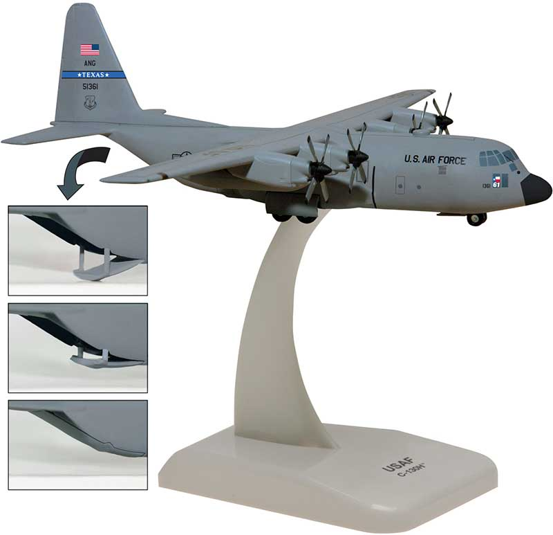 Texas Air National Guard C-130H (1:200)
