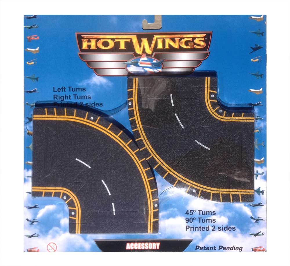 Hot Wings Runway Curves Accessory (4 pieces)