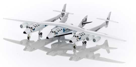 Virgin Galactic White Knight Two with Spaceship Two (1:200 Scale)