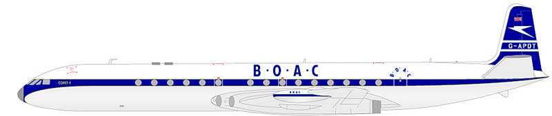 BOAC DH-106 Comet 4  G-APDT (1:200) - Preorder item, order now for future delivery