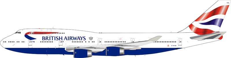 British Airways Boeing 747-400 G-BYGB (1:200) - Preorder item, order now for future delivery