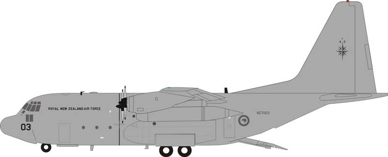New Zealand Air Force Lockheed C-130H Hercules NZ7003 (1:200) - Preorder item, order now for future delivery