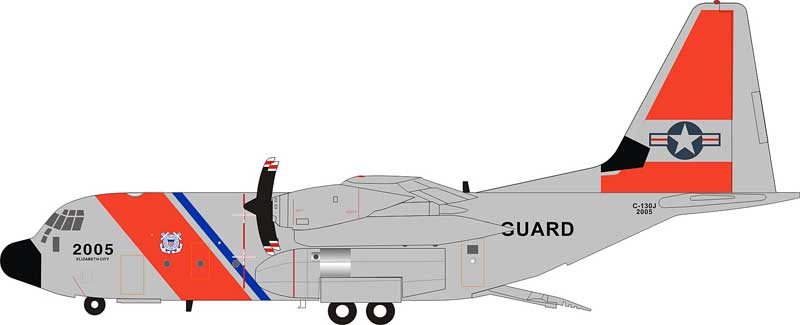 US Coast Guard Lockheed Martin HC-130J Hercules (L-382)  (1:200)