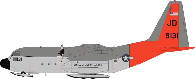 US Navy Lockheed LC-130R Hercules (L-382) 159131 on Skis (1:200)  - Preorder item, order now for future delivery