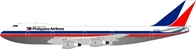 Philippine Airlines 747-2F6B N741PR Polished, With Stand (1:200) - Preorder item, order now for future delivery