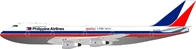 "Philippine Airlines 747-2F6B N744PR ""Mabuhay Chicago"" Polished, With Stand (1:200) - Preorder item, order now for future delivery"