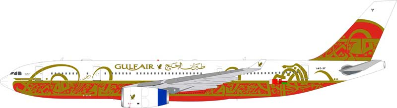 "Gulf Air A330-200 A40-KF ""50th Anniversary"" (1:200) - Preorder item, order now for future delivery"