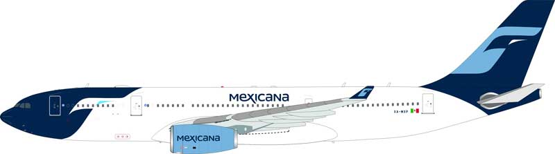 Mexicana Airbus A330-200 XA-MXP (1:200) - Preorder item, order now for future delivery