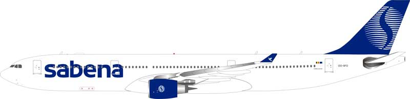 Sabena A330-300 OO-SFO (1:200) - Preorder item, order now for future delivery