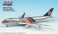 747-100F Flying Tigers, W/ Polished Fuselage (1:500)