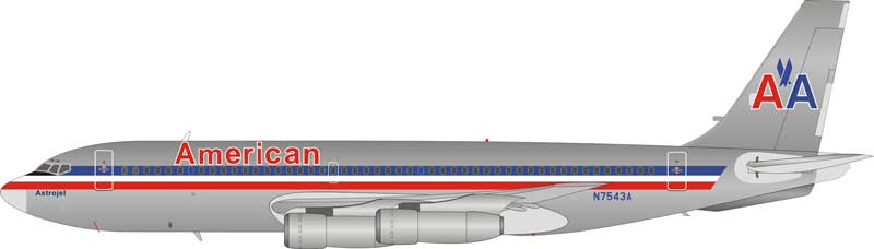 American Airlines Boeing 720-023B N7543A polished (1:200)