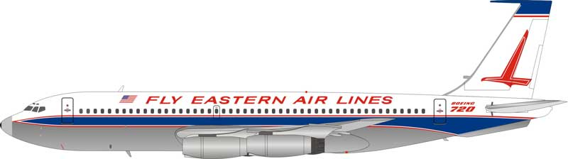 "Eastern ""Fly Eastern Air Lines"" Boeing 720 N8702E Polished (1:200)"