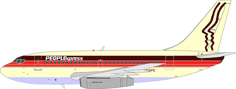 People Express 737-130 N415PE (1:200)