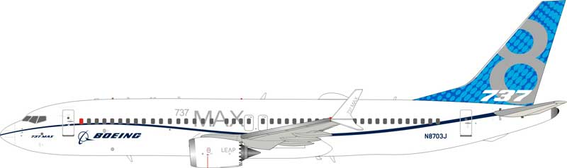 Boeing 737-8 Max House color N8703J (1:200) - Preorder item, order now for future delivery