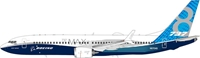 Boeing 737-8 Max House color N8704Q (1:200)