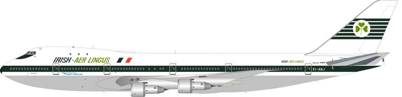Aer Lingus (in service with East African) Boeing 747-100 EI-ASJ (1:200) Limited 60 pieces - Preorder item, order now for future delivery