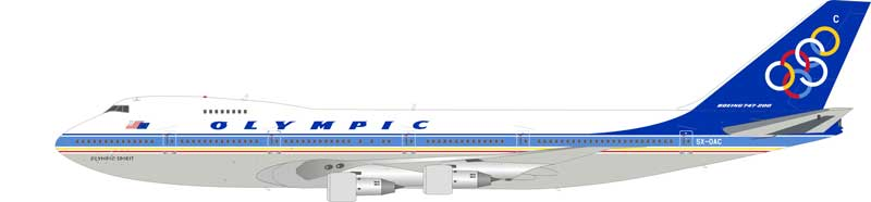 "Olympic Boeing 747-200  SX-OAC ""Olympic Spirit"" (1:200)-SECOND"
