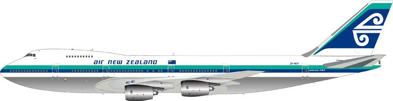 "Air New Zealand Boeing 747-200 ""Aotea"" ZK-NZV Old Colors, Polished (1:200)"