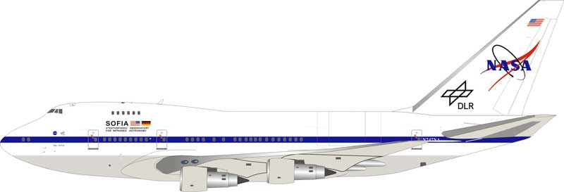 "NASA/DLR Boeing 747SP N747NA ""SOFIA, Stratospheric Observatory for Infrared Astronomy"" (1:200) - Preorder item, order now for future delivery"