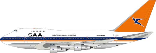 South African Airways Boeing 747SP (1:200) Polished - Preorder item, order now for future delivery