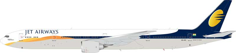 Jet Airways (Operated by Etihad Airways) 777-300 A6-JAC (1:200) Limited 50 pieces - Preorder item, order now for future delivery