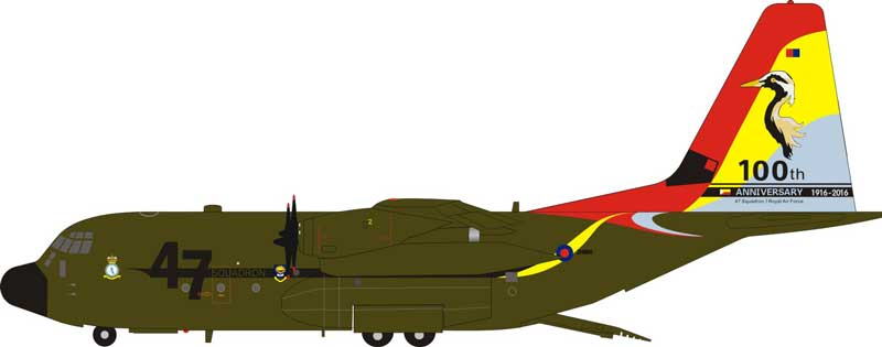 "United Kingdom Air Force C-130J Hercules ZH880 ""100 Year Anniversary"" (1:200) - Preorder item, order now for future delivery"