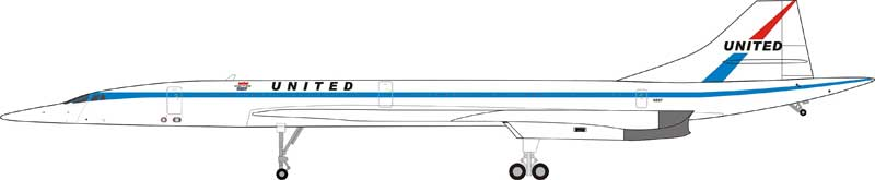 United Airlines Concorde (1:200) - Preorder item, order now for future delivery