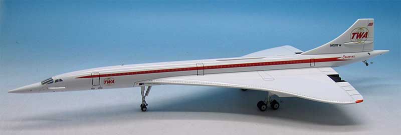 TWA Concorde N001TW (1:200) - Preorder item, order now for future delivery