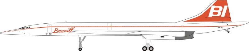 Concorde Braniff  N81AC (1:200) - Preorder item, order now for future delivery