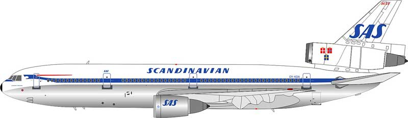 Scandinavian Airlines (SAS) DC-10-30 OY-KDA (1:200)
