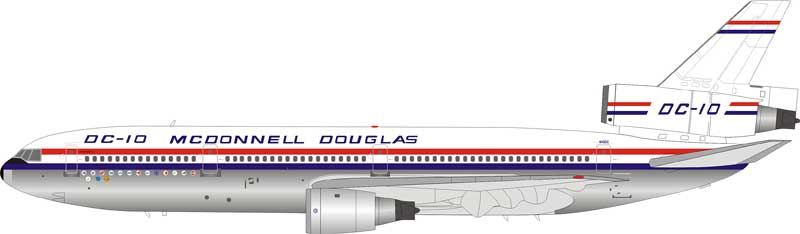 McDonnell Douglas DC-10-10 House Color N10DC Polished (1:200) - Preorder item, order now for future delivery