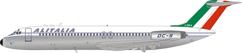 Alitalia DC-9-32 I-DIKA Polished (1:200) - Preorder item, order now for future delivery