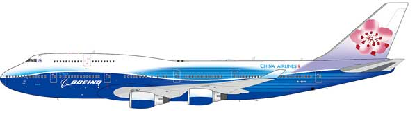 China Airlines Boeing 747-409 B-18210 (1:200) Polished - Preorder item, order now for future delivery