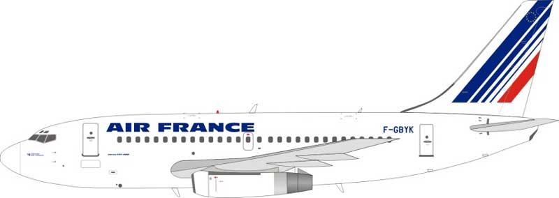 Air France Boeing 737-200 F-GBYK (1:200) - Preorder item, order now for future delivery