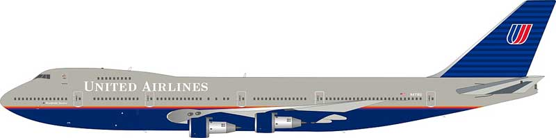 United Airlines Boeing 747-122  N4716U (1:200) - Preorder item, order now for future delivery