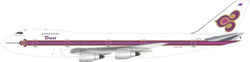 Thai Airways International Boeing 747-200 HS-TGA (1:200) - Preorder item, order now for future delivery