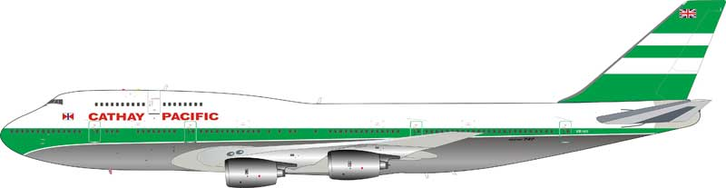 Cathay Pacific Airways B747-300 VR-HII (1:200) - Preorder item, order now for future delivery