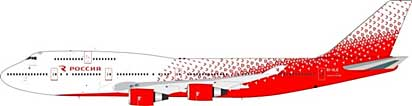 Rossiya Russian Airlines Boeing 747-400 EI-XLE (1:200) - Preorder item, Order now for future delivery