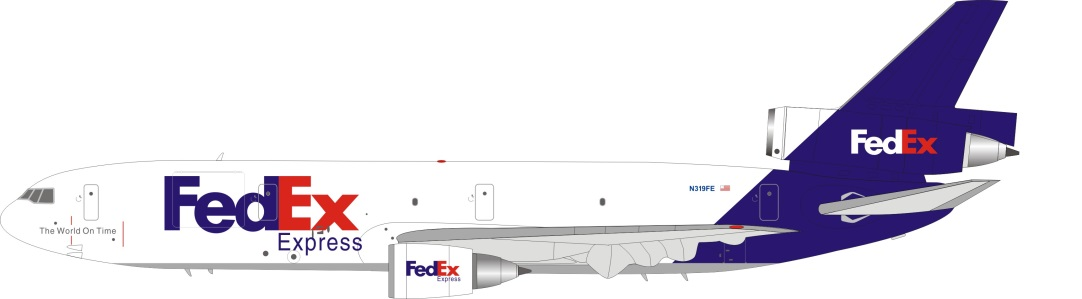 FedEx DC-10-30 N319FE (1:200) - Preorder item, order now for future delivery