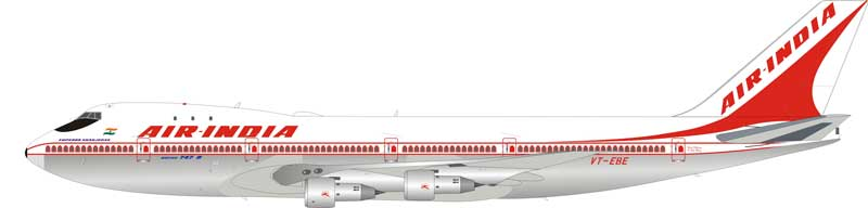 "Air India Boeing 747-200 VT-EBE ""Emperor Shahjehan"" (1:200) - Preorder item, order now for future delivery"