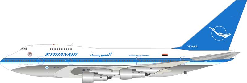 Syrian Air Boeing 747SP YK-AHA (1:200) - Preorder item, order now for future delivery