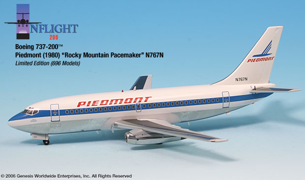 Piedmont 737-200 `Rocky Mountain Pacemaker` (1:200)