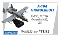 A-10A Thunderbolt 118th Fighter Squadron, 103rd Fighter Wing, Connecticut Air National Guard, USA (1:100)