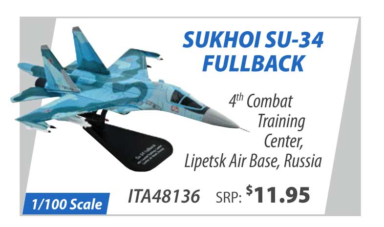 Sukhoi Su-34 Fullback 4th Combat Training Center, Lipetsk Air Base, Russia (1:100)