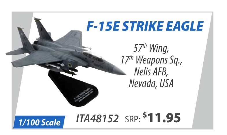 F-15E Strike Eagle 57th Wing, 17th Weapons Squadron, Nelis Air Force Base, Nevada, USA (1:100)