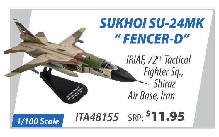 "Sukhoi Su-24MK ""Fencer-D"" IRIAF, 72nd Tactical Fighter Squadron, Shiraz Air Base, Iran (1:100)"